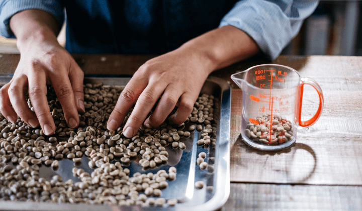 厳選した豆と入念なハンドピック